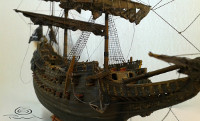 1:144 Pirate ship scale model as Black Pearl